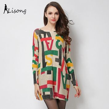 Lisong New Style Pullovers With Print Words Sweater