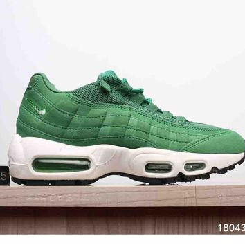 NIKE AIR MAX 95 MEN WOMEN SHOES CONTRAST SOLES SNEAKERS SPORTS SHOES B-A-XIONGDI-UPING Green