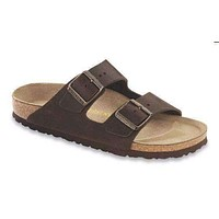 Women's Arizona Sandal with Oiled Leather with Soft Footbed in Habana by Birkenstock