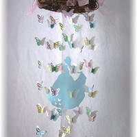 "Cinderella Butterfly Mobile - Princess Butterfly Mobile, ""Cinderella"" bedding, Princess Decor"