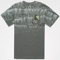 Metal Mulisha Voided Mens T-Shirt Charcoal  In Sizes
