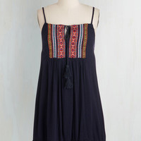 Boho Short Length Spaghetti Straps Shift Are We Having Sun Yet? Dress