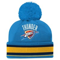 adidas Oklahoma City Thunder Cuffed Knit Cap - Youth, Size: One Size (Blue)