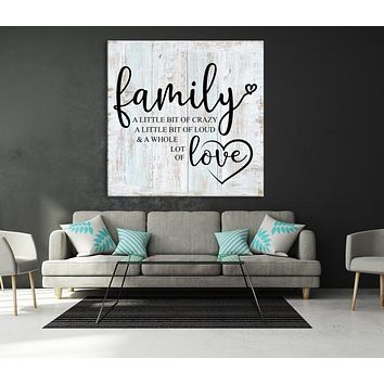 Family Custom House Wall Art Sign Canvas Print Personalized House Gift