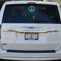 Peace Stickers, Peace Sign Decal, Peace Sign Sticker, Peace Symbol, Car Decal, Car Stickers, Car Window Decal, Bumper Sticker, Laptop