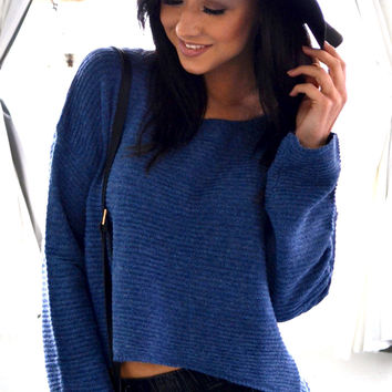 Talia Knitted Sweater - Navy