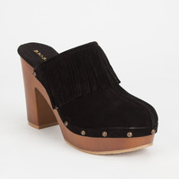 Bamboo Wilson Womens Clogs Black  In Sizes