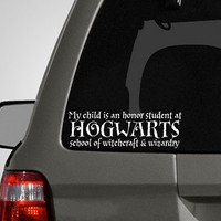Hogwarts Honor Roll Bumper Sticker by PeelAndStickDecals on Etsy