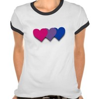 Bisexuality pride hearts T-shirt