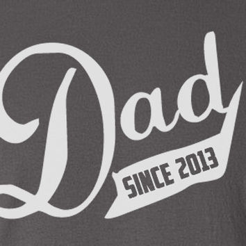 Baseball Jersey Style Dad Daddy Father since 2013 Gift Birthday T-Shirt