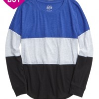 COLORBLOCK LONG SLEEVE TEE | GIRLS FASHION TOPS TOPS | SHOP JUSTICE