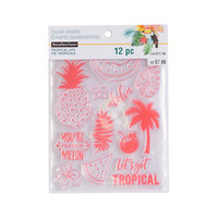 Tropical Life Pineapple Clear Stamps By Recollections™