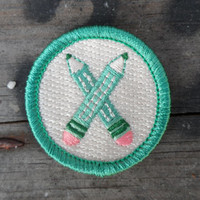Pencil Patch / Storyteller Merit Badge / Gift for Writers, Illustrators, Artists, or Accountants