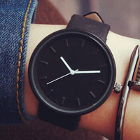 Retro Simple Casual Leather Watch Lover Gift +Christmas Gift Box