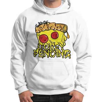 Official CoreyPending Twitch Shirt (LARGE GRAPHIC) Gildan Hoodie (on man)