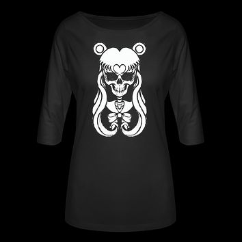 Sailor Moon Skull Women's 3/4 Sleeve Shirt