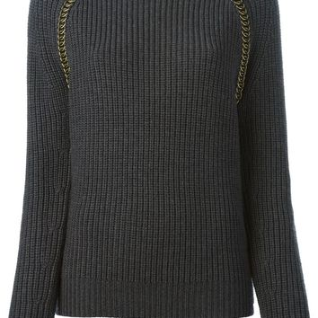 Tory Burch 'Trudy' chain trim sweater