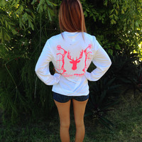 Bow Hunter Pink UPF Long Sleeve Tee