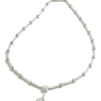 Nadri Crystal Bezel Necklace