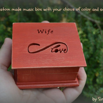 music box, wedding music box, wedding favor, infinity love, anniversary gift, personalized gift, simplycoolgifts, custom made music box,