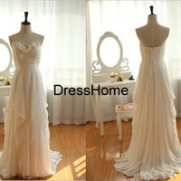 Long Bridesmaid Dress - White Bridesmaid Dress / Long Bridesmaid Dress / Prom Dress / Long Prom Dress / Ivory Prom Dress