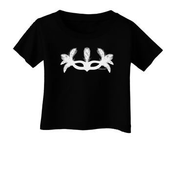 Masquerade Mask Silhouette Infant T-Shirt Dark by TooLoud
