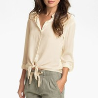 Two by Vince Camuto Lace Back Shirt | Nordstrom