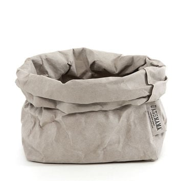 Uashmama Paper Bag - Gray - Medium