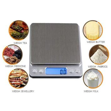ICIKGQ8 new arrival 1000g x 0 1g digital pocket scale jewelry weight electronic balance scale mini home kitchen scales