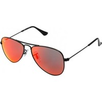 Ray-Ban Junior Rj9506s Oval Sunglasses,Matte Black/Red Multilayer,50 mm