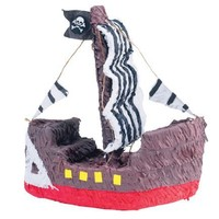 Pirate Ship Shaped 16in x 15 1/2in Pinata