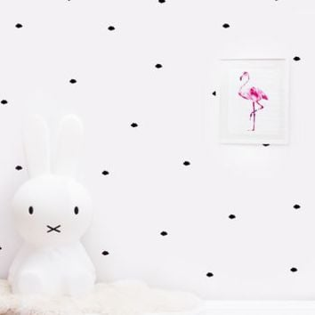 Set Of Little Clouds Wall Stickers