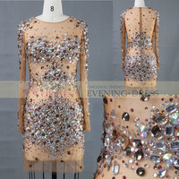 AA61687A see through crystal beaded party dress, View see through crystal beaded party dress, CHOIYES party dress Product Details from Chaozhou Choiyes Evening Dress Co., Ltd. on Alibaba.com