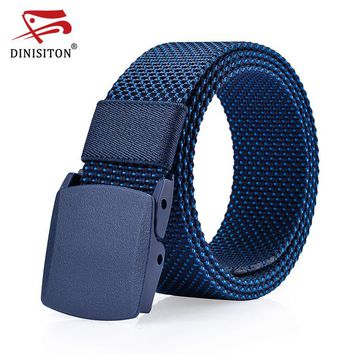 Men Thicken Canvas Military Belt Army Tactical Belts High Quality Male Strap Resin Automatic Buckle  Cantos