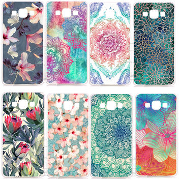 Mandala Flower Datura Floral Clear Hard Plastic Case Cover For Samsung Galaxy A3 A5 A7 A8 J1 J5 J7 2016 2017 A300 A500 A700