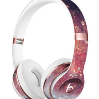 Red and Blue Glowing Orbs with Silver Sparkle Full-Body Skin Kit for the Beats by Dre Solo 3 Wireless Headphones