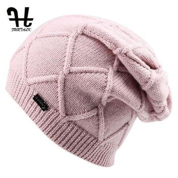 NOV9O2 FURTALK Wool Cashmere Autumn Winter Women Hat Knit Skullies Beanies Hats for Girls Female