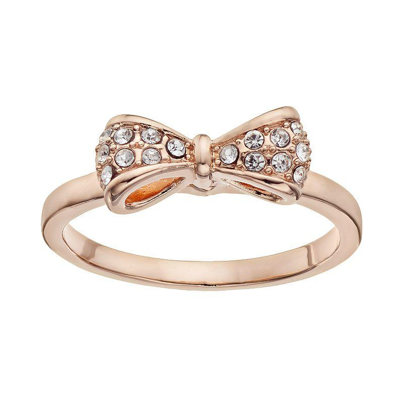 Lc lauren conrad bow ring rose tone from kohl 39 s jewelry for Kohls jewelry mens rings