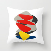ANCIENT PRAYER Throw Pillow by THE USUAL DESIGNERS