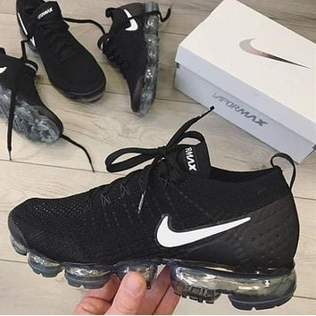 Nike Air Vapormax Fashion Casual Women Men Sports Air Cushion Shoes Black