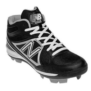 DCCK1IN new balance yb3000 youth mid molded cleats black silver