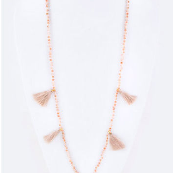 Tassel Necklace | Peach