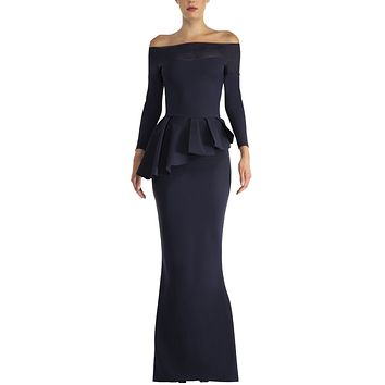 Long Sleeve Gown Midnight