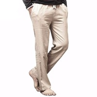 High quality  Linen Pants Casual Loose Cotton