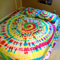 Full Size Custom Tie Dye Sheet Set