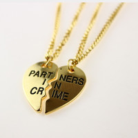 Partners in Crime Best Friend Necklaces(2pc)