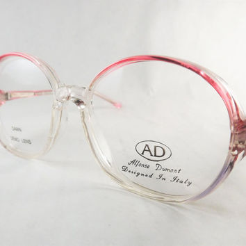 Round Eyeglasses, Plastic Pink Glasses, Womens Fun Eyeglasses, Pink, Lavender Purple Frames, Vintage Glasses