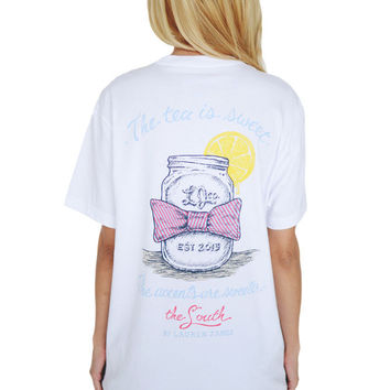 Southern Accents Tee in White by Lauren James