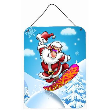 Christmas Santa Claus Snowboarding Wall or Door Hanging Prints APH6388DS1216