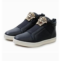 Versace Trending Women Men Casual High Help Low Help Sneakers Running Sports Shoes Blue High Help